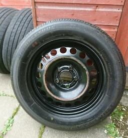16 inch STEEL WHEEL WITH SPARE TYRES AND JACK