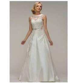 Wedding dress, ivory, berketex, size 14