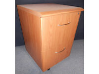 Two Drawer Filing Cabinet - On Casters