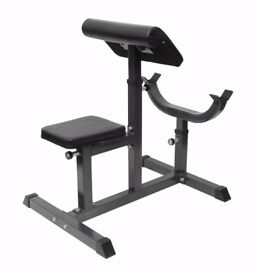Preacher Curl Bench Fully Adjustable Arm Bench: New