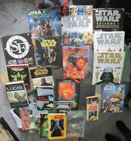 Collection of STAR WARS/George Lucas books and Comics and Sci Fi Books