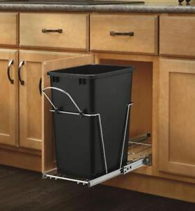 Rev-A-Shelf - RV-12KD-18C S - Single 35 Qt. Pull-Out Black and Chrome Waste - BRAND NEW - FREE SHIPPING