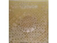 NEW Yellow/Gold Mosaic Glass Tile Candle Plate Tableware Decoration Ornament Bathroom Glassware