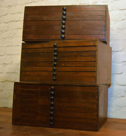 1950 ply eight draw cabinet speicmen collectors card index industrial antique vintage haberdashery