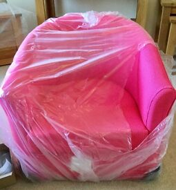 Tub Chair or Armchair, New, Pink.