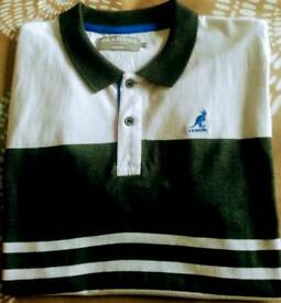 Mens Kangol Polo Shirt Medium