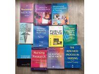 Nursing/medical books inc. Nursing Research,Fundamental nursing skills,Public Health, Law and Ethics