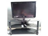 """TV LG 32"""" + NEW TV Table + TV Hanger in good condition"""