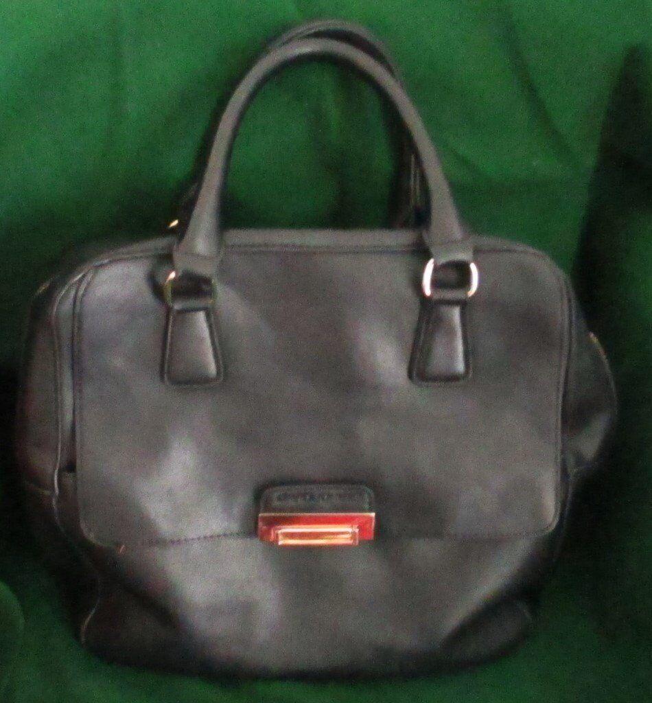Black Leather Handbag By David Jones