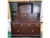 Full height Dresser / Sideboard with drinks cupboard and display cabinets