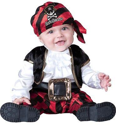 Kapitän Stinker Piraten-Party Kostüm Kleid Outfit 0-24 (Baby-mädchen Piraten-outfit)