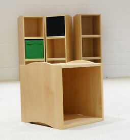 Stacking Storage Cube - Made to fit Ikea canvas storage boxes.