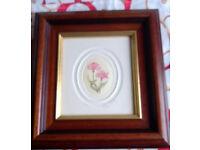 framed original flower watercolor