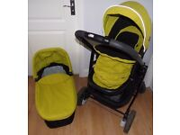 Graco Evo Pushchair, Pram, Travel System (no carseat) - Includes Pram seat & base & Carry Cot