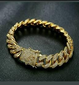 18k gold filled mens bracelet