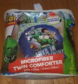 NEW! Disney Pixar Toy Story Microfiber Comforter (TWIN) Buzz Lightyear 163cmx218cm
