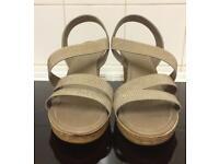 M&S Stud Embellished Wedge Sandals - Size 7