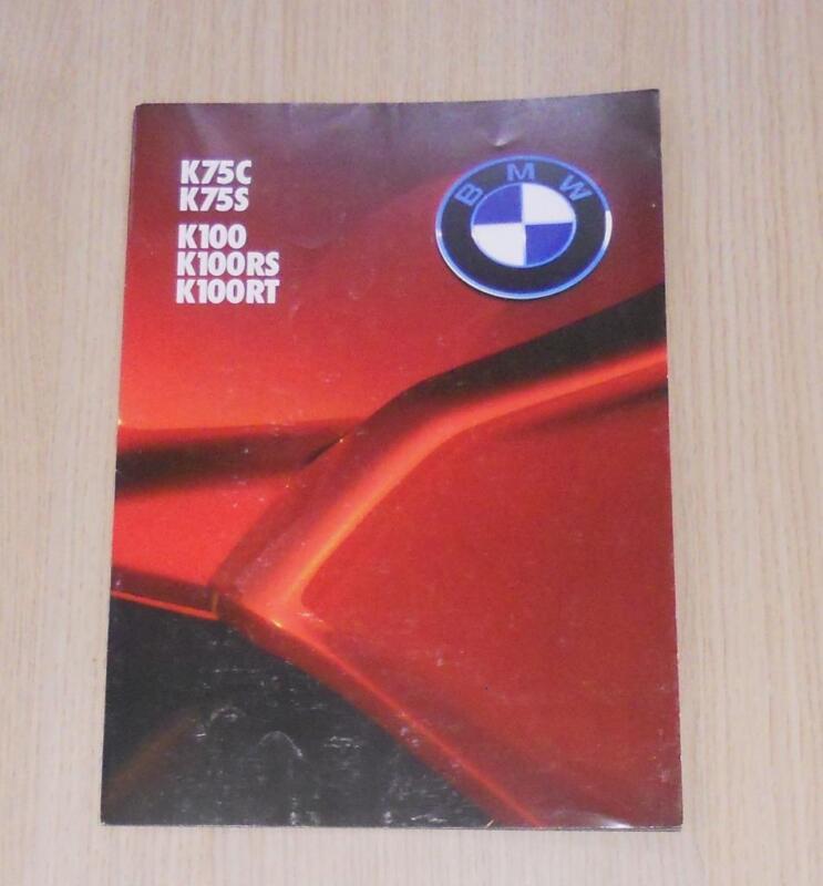 BMW K SERIES MOTORCYCLES Sales Brochure 1985-86 #511203320 K75C K100RS K100RT ++