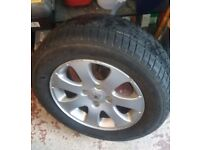 """Peugeot 307 alloy 15"""" with free tyre"""