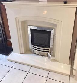 Marble fireplace with led lights Brand new