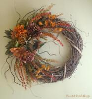 Rustic Fall Wreath/ Autumn/ Harvest/ Thanksgiving Decor