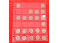 UK large 50p coins from circulation - various prices - very good condition.