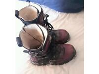 Purple New Rock Boots - Size 7 - Very Good Condition