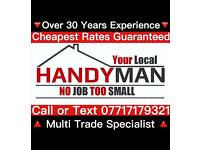 LOCAL HANDYMAN Beat Any Quote By 20% Guaranteed ✔️ Joinery-Electrical-Plumbing-Landscaping-Fencing