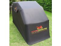 "Motorbike Shelter Tent Motorcycle Cave Store Bike Cover ""StormProtector"""