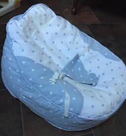 Bambeano® Baby Bean Bag - blue / white RRP £44.99