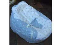 Bambeano® Baby Bean Bag - blue / white RRP £44.99