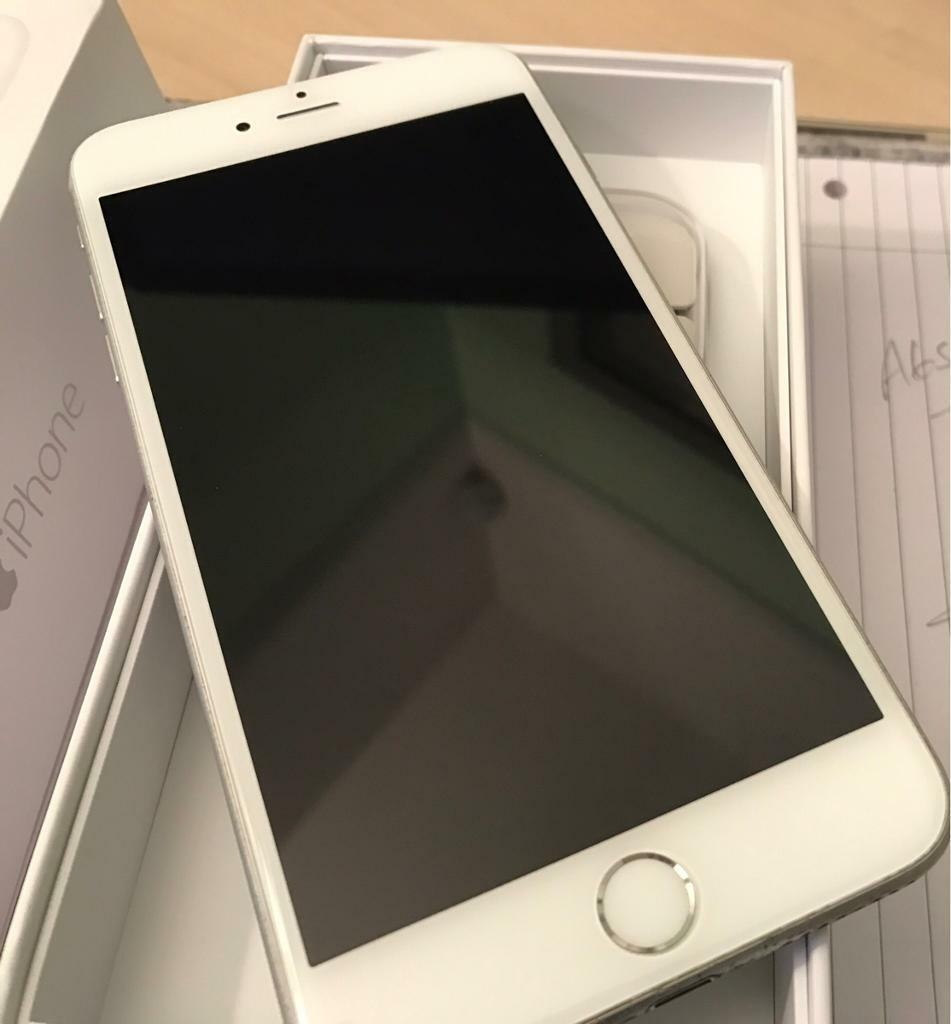APPLE iPhone 6 Plus, 128gb, Silver, UNLOCKED BY EE