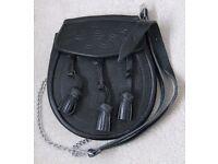 Sporran - black leather