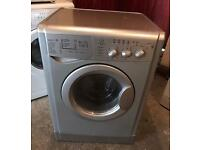 INDESIT IWDXL126S Silver Washer & Dryer Good Condition & Fully Working Order