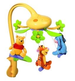 Tomy Disney Winnie the Pooh Swing Time Baby Cot Mobile