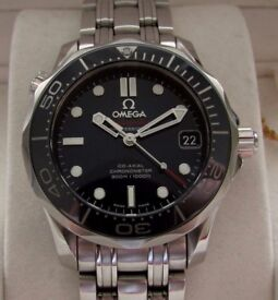 Omega Seamaster Automatic Co-Axial Ceramic Midsize Watch Blue 21230362003001 **Buy Online**