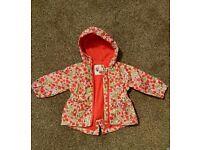 Baby girl waterproof jacket 3-6 month