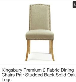 Pair of Studded Edge Dining Chairs Brand New with Tags