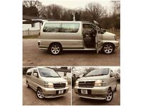 AUTOMATIC NISSAN ELGRAND 4WD DIESEL CAMPER/8 SEATER 1 YEAR MOT AC DVD SAME BONGO/ALPHARD/NOAH/VW