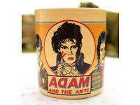 VINTAGE 1970s ADAM AND THE ANTS CERAMIC MUG
