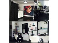 Nail station for rent in beauty salon