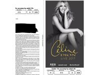 Celine Dion 02 London 30th July 2017. ROW A. Block 415 . Three tickets in hand-£95 per ticket