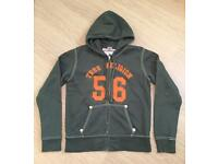 Brand new men's authentic vintage 2012 True Religion hoodie. Green. Large. RRP £160
