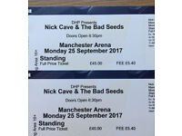 2 Nick Cave tickets Manchester Arena, Standing