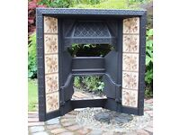 HANDSOME TILED ANTIQUE VICTORIAN/EDWARDIAN FIREPLACE IN GOOD CONDITION