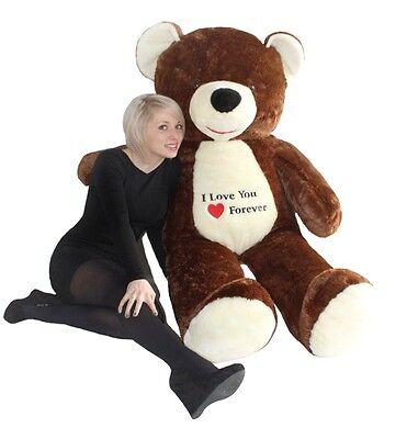Riesen Teddybär Plüschtier Stofftier mit Stickerei braun 170cm groß