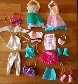 Barbie doll clothes and accessories.
