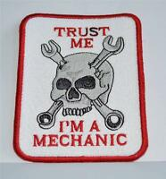 Embroidered Cloth Badge - ' Trust Me I'm A Mechanic ' Skull - alfa romeo - ebay.co.uk