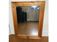 Solid wood pine mirror