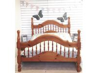 Stunning Solid Pine Chunky Kingsize Bed Frame
